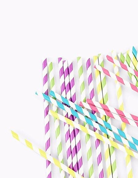 Botellitas y Pajitas de papel